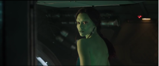 Zoe Saldana as Gamora, the world's most dangerous woman